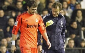 Iker Casillas se lesion en Mestalla y estar entre un mes y mes y medio de baja